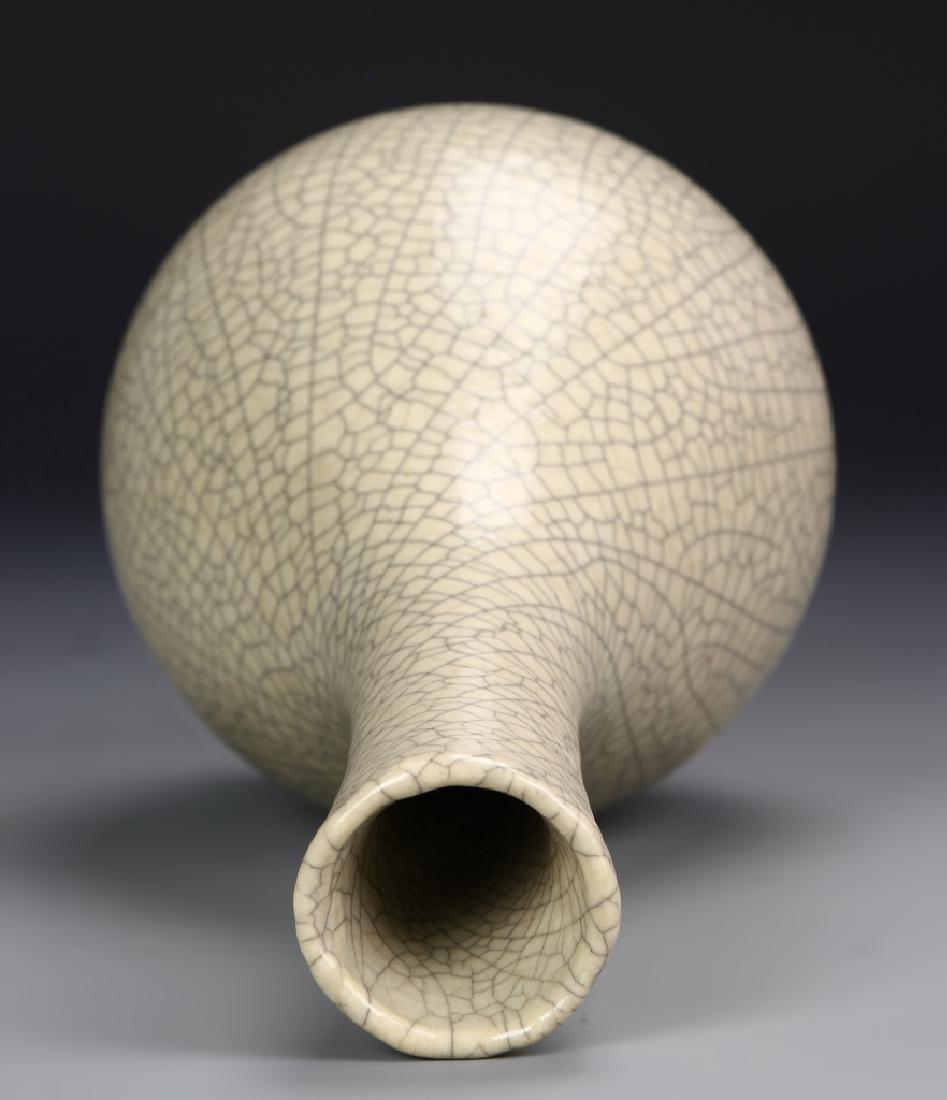 Rare Long Neck Pear-Shape Vase - 4