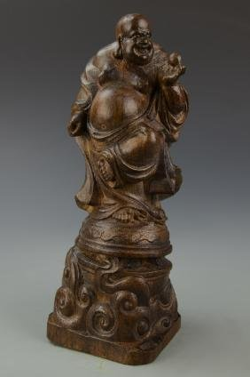 Chinese Hardwood Buddha