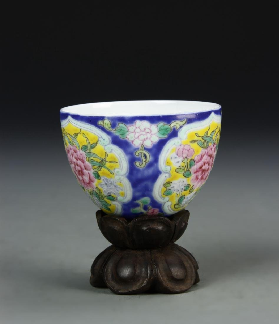 Chinese Enameled Cup - 2