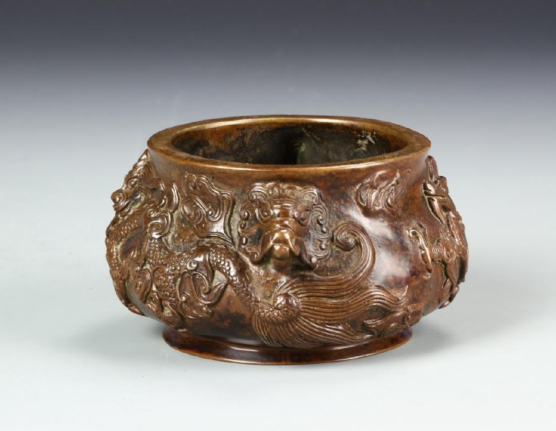 Chinese Bronze Censer - 3