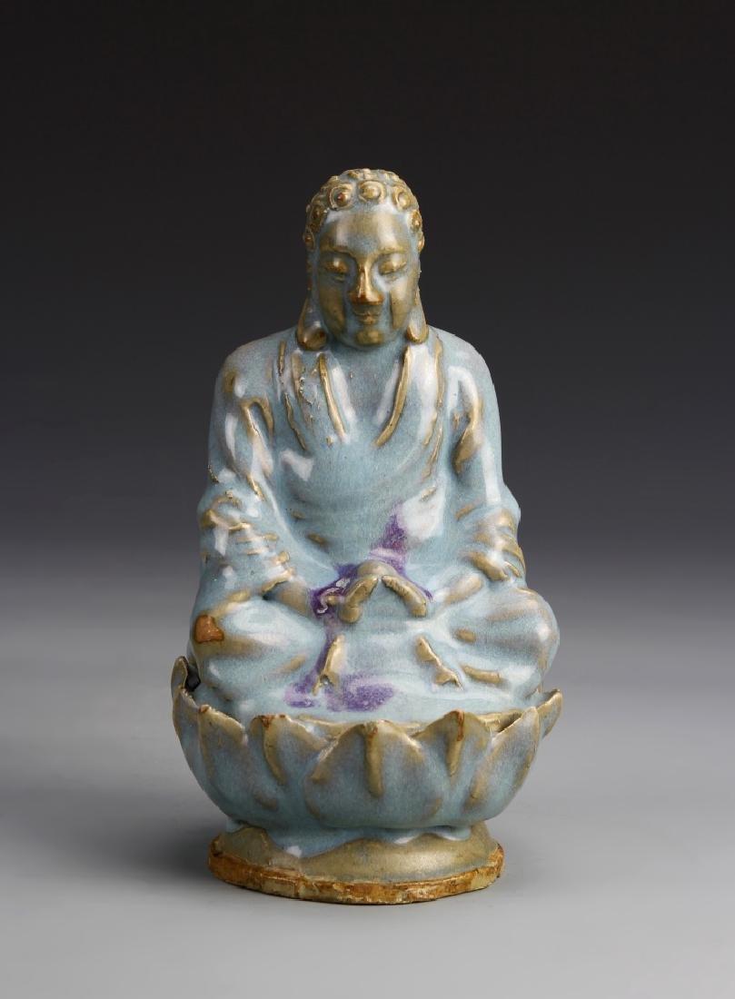 Chinese Jun Ware Buddha