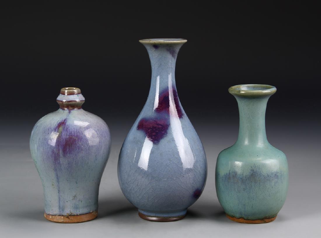 Three Chinese Chun Ware Vases