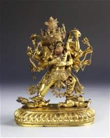 Chinese Ming Dynasty Gilt Buddha