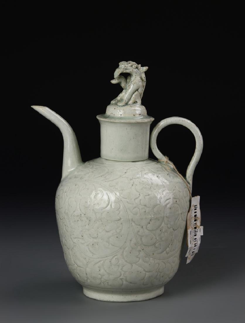 Chinese Ying Qing Ewer with Lid