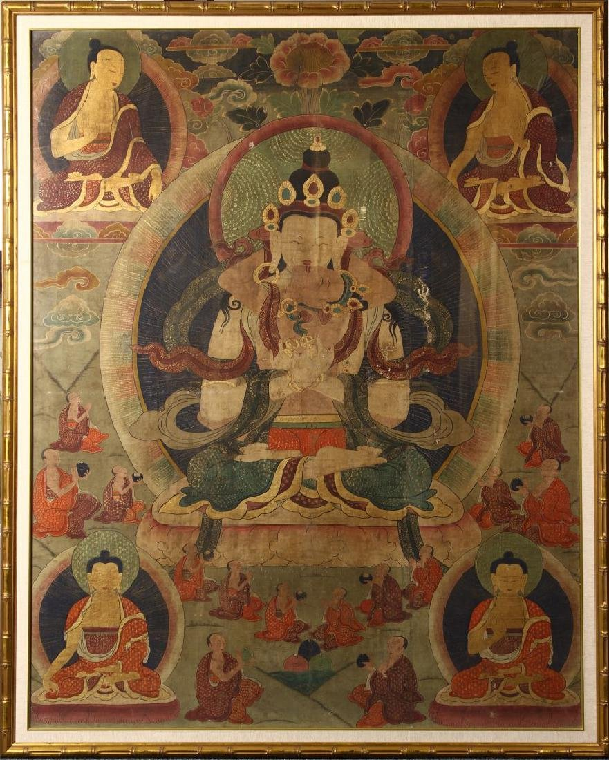 Tibetan Framed Thangka