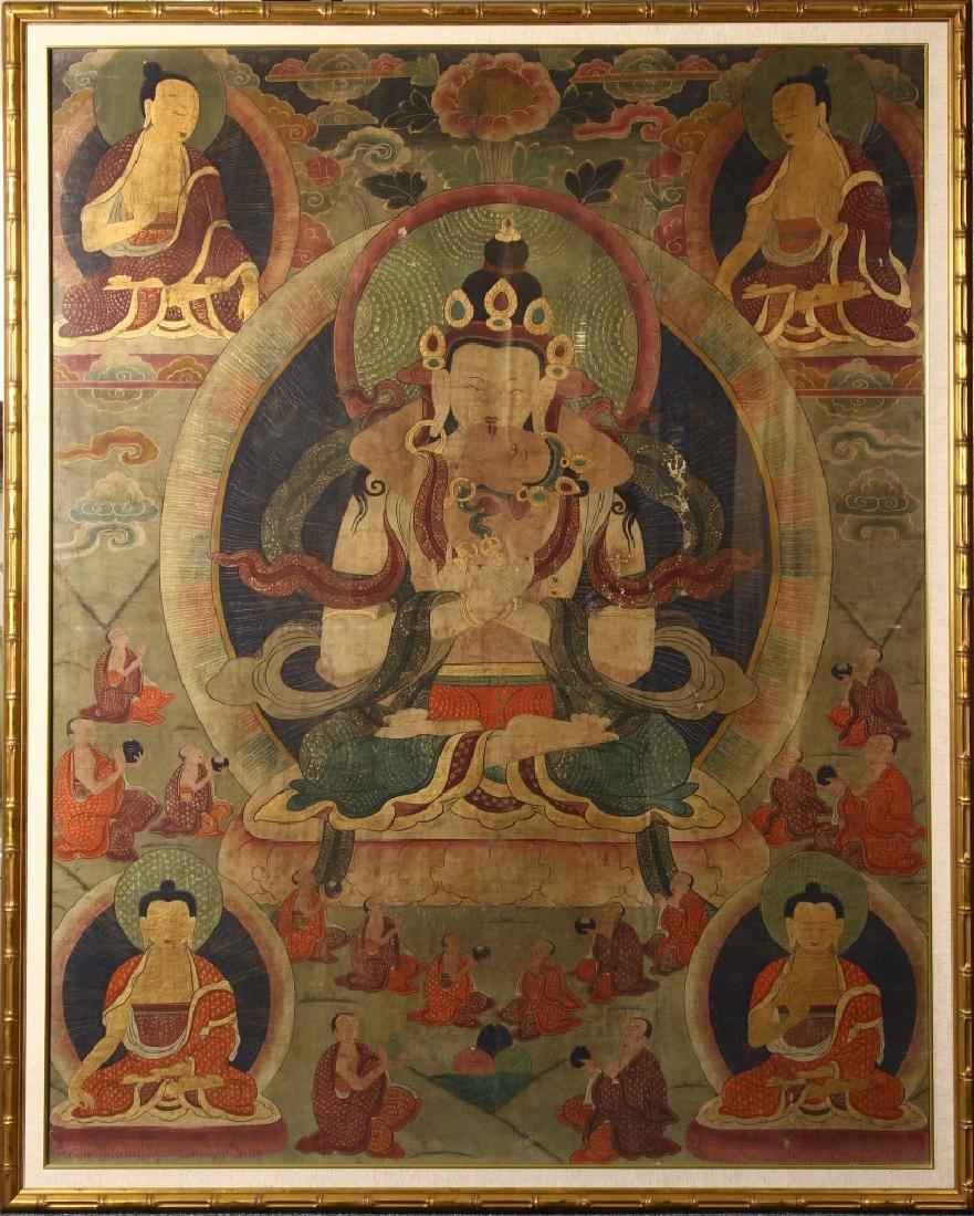 Tibetan Framed Thangka