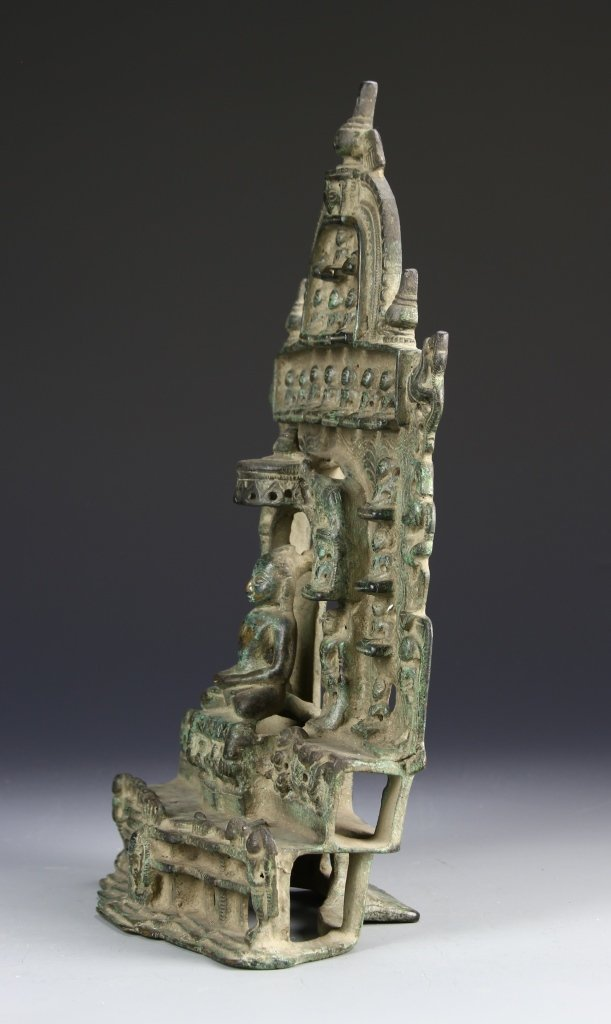 Indian Bronze Jain with Silver Inlays - 3