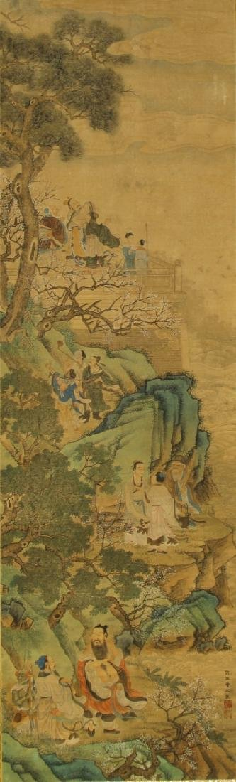 Chinese Scroll Painting, attributed to Qiu Ying