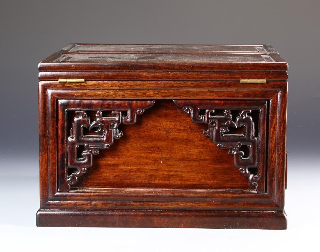 Chinese Hardwood Jewelry Box and Makeup Box - 5
