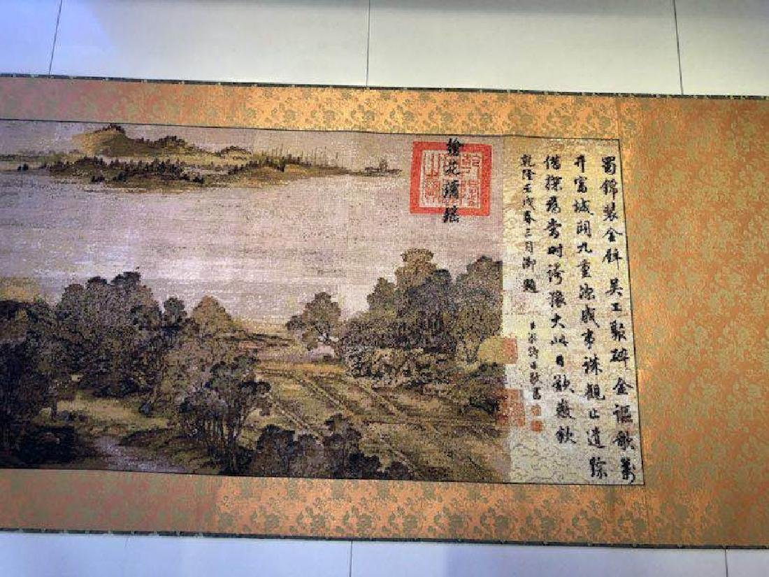 Cross Stitch Long Scroll of Landscape