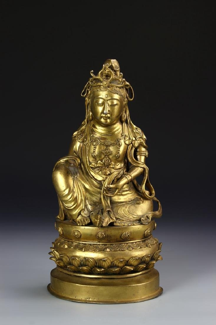 Asian Gilt Bronze Buddha