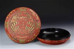 Chinese Lacquered Cinnabar Box