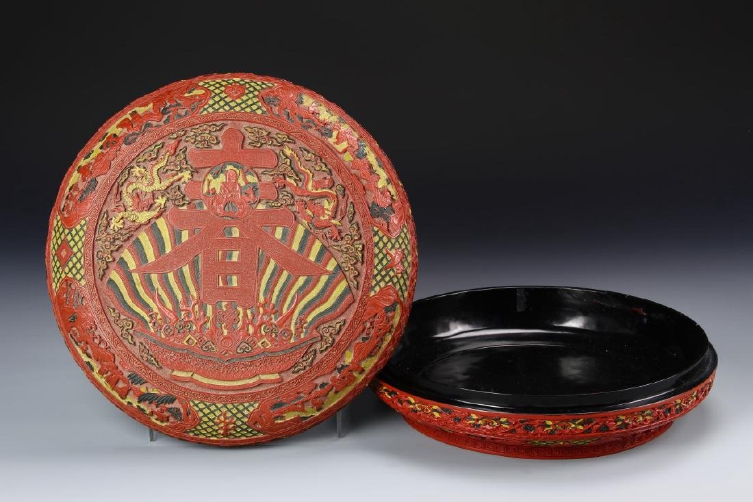 Chinese Lacquered Cinnabar Box