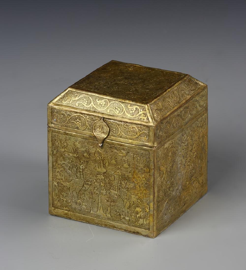Chinese Gilt Scholar Box