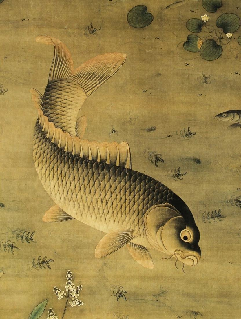 Chinese Scroll Painting of Fish - 3
