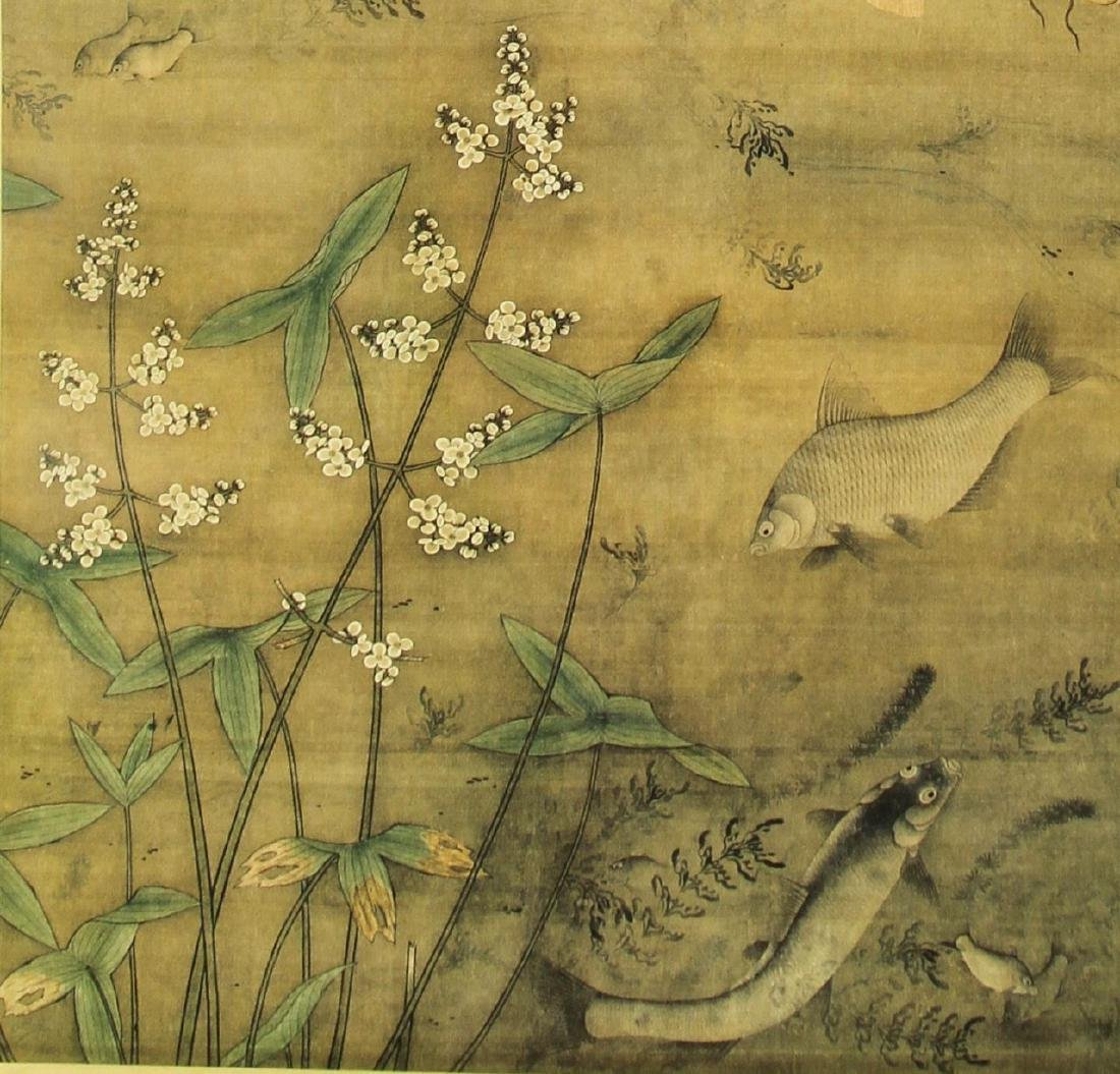 Chinese Scroll Painting of Fish - 4
