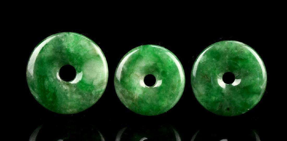 Three Chinese Jadeite Pi