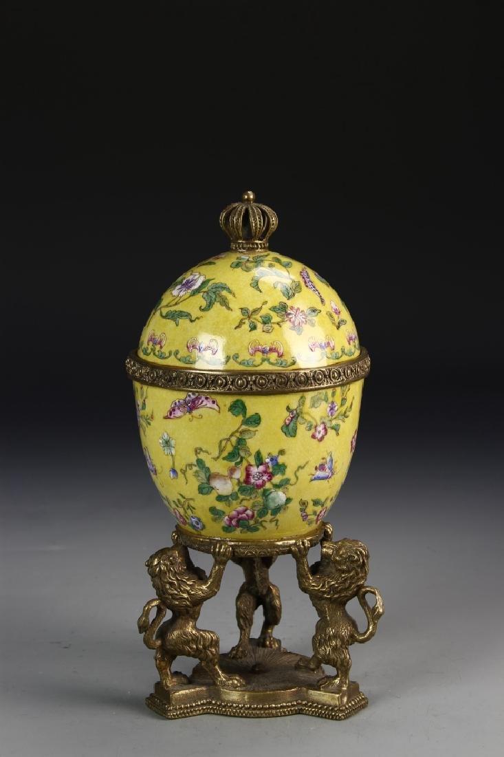 Chinese 19th Century Famille Rose Jar