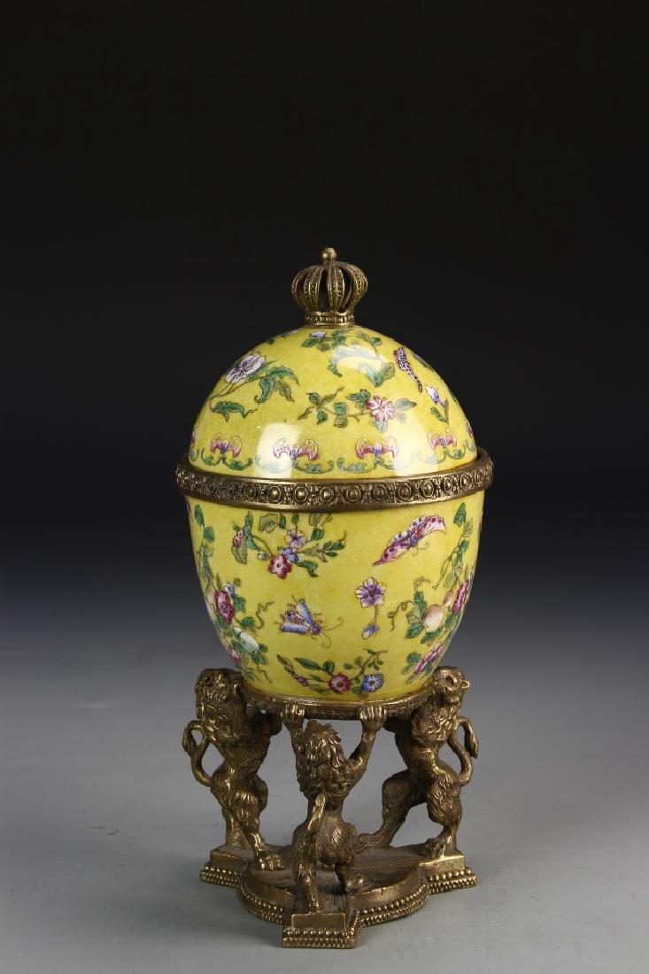 Chinese 19th Century Famille Rose Jar - 2