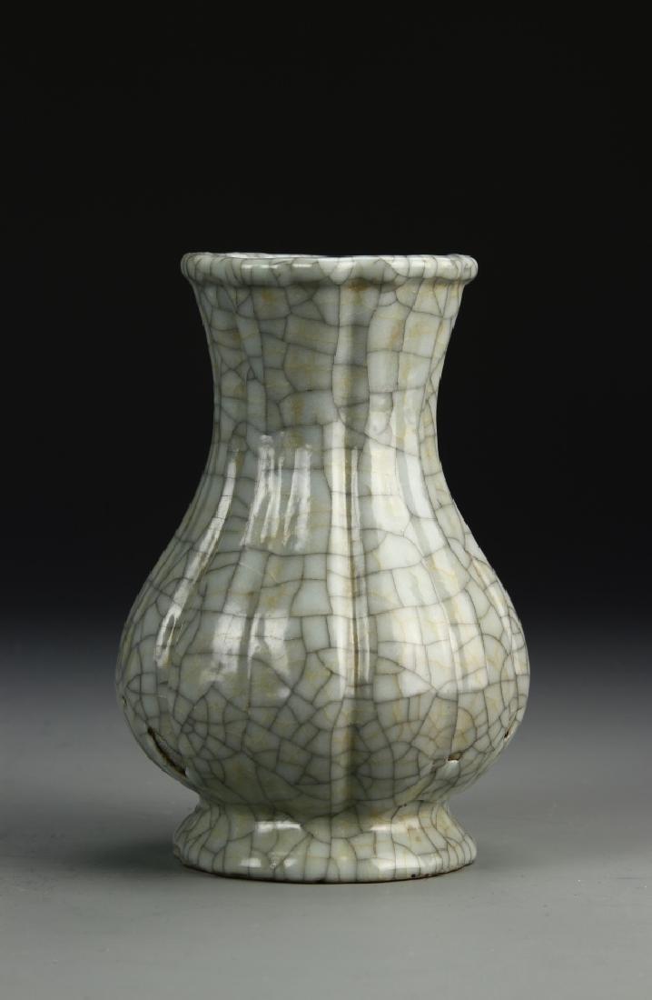 Chinese Ku'an Type Lobed Vase