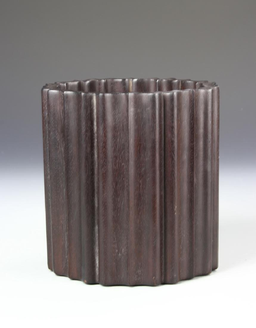 Chinese Zitan Brush Pot
