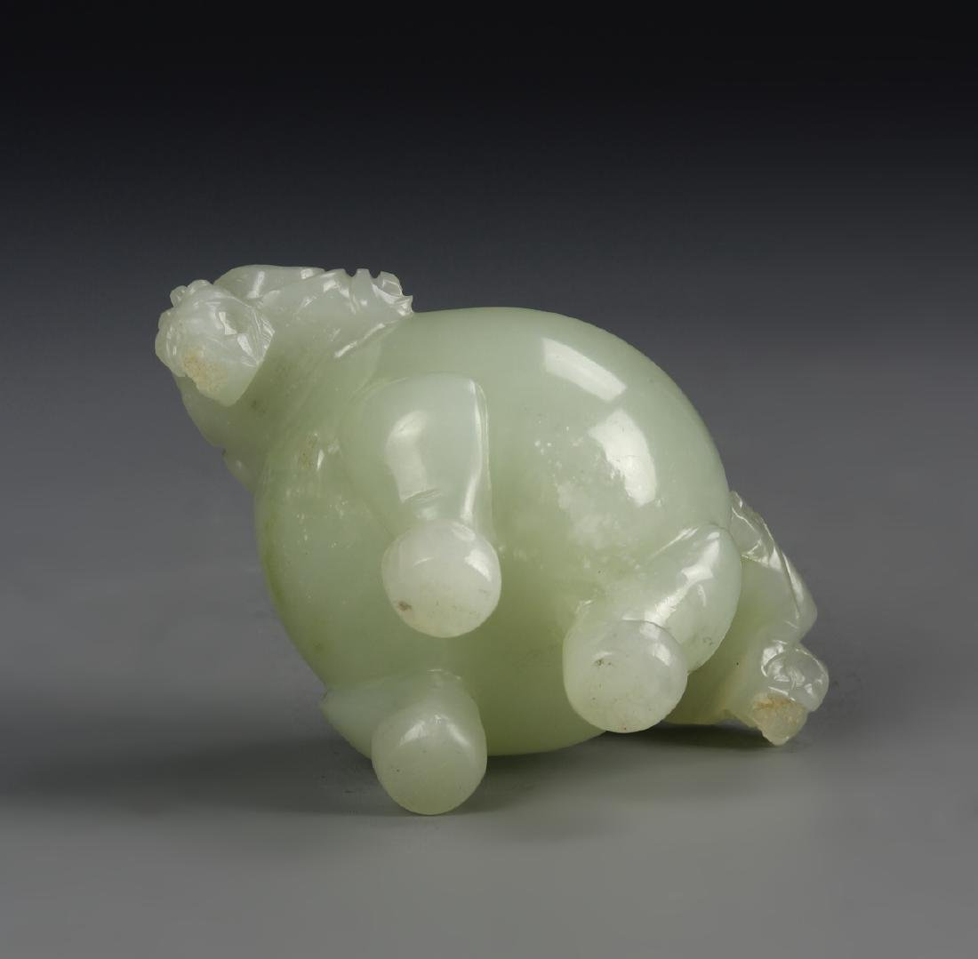 Chinese Jade Censor With Cover - 4