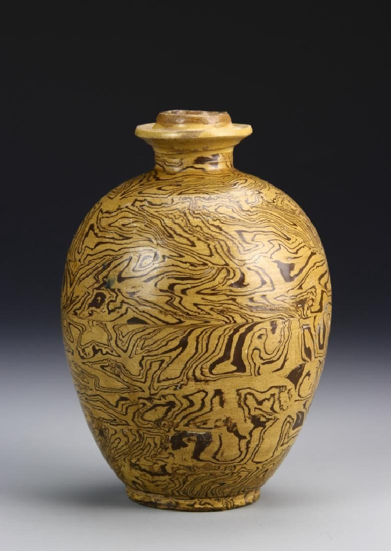Chinese Tang Dynasty Marble Glazed Vase