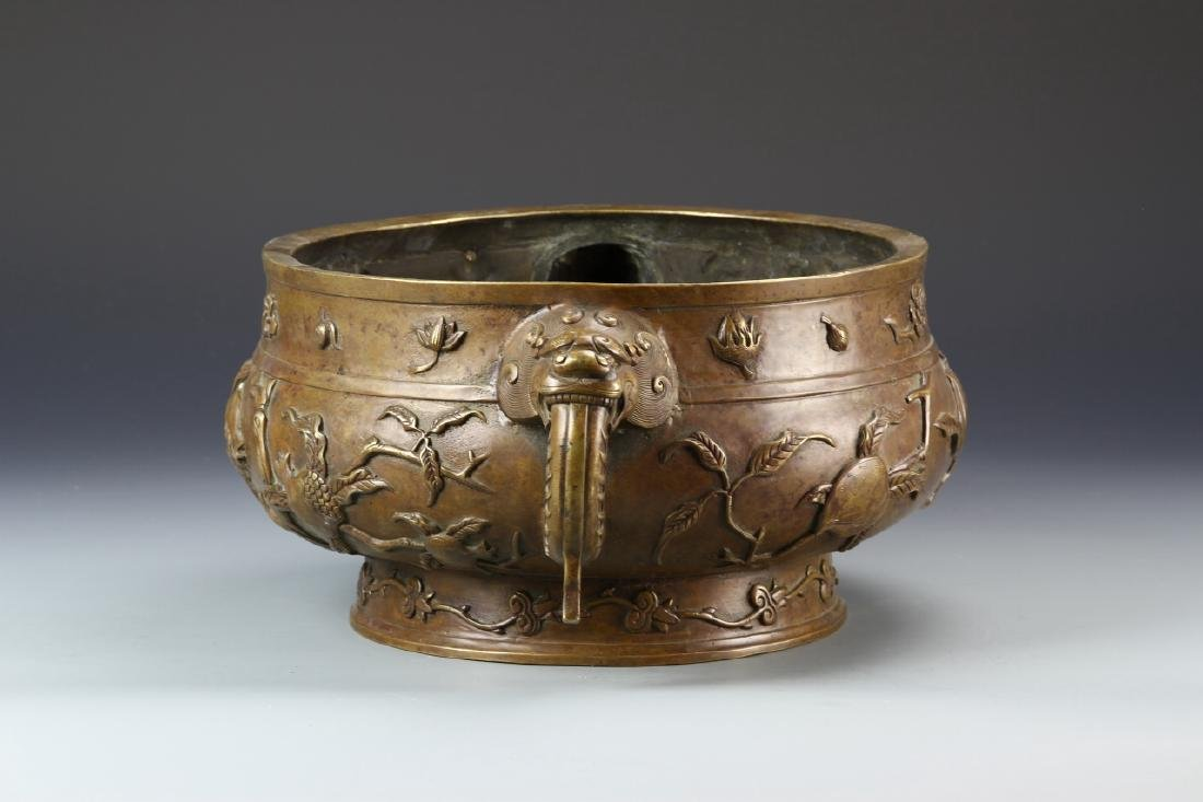 Chinese Bronze Censer - 4