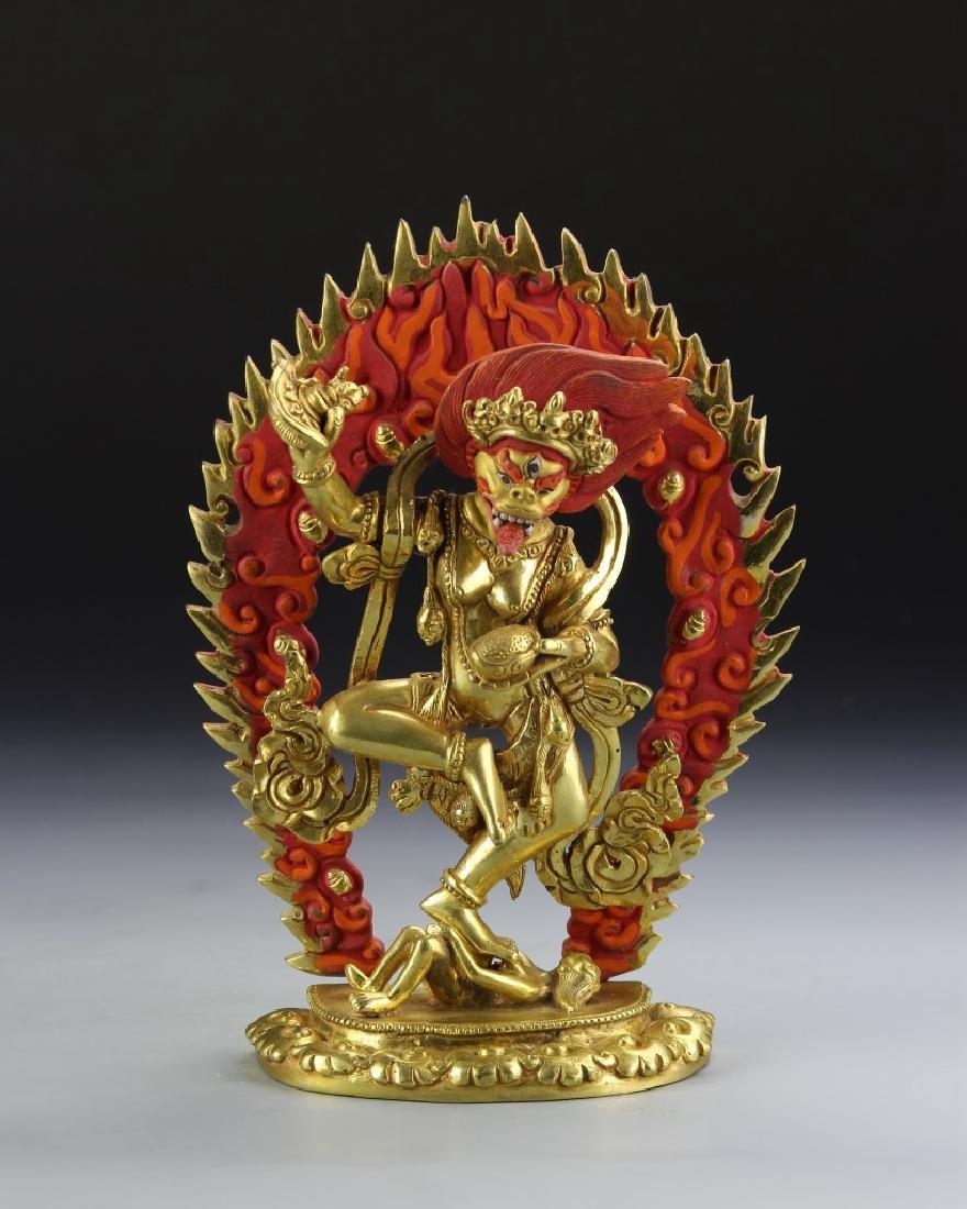 Tibetan Gilt Buddha