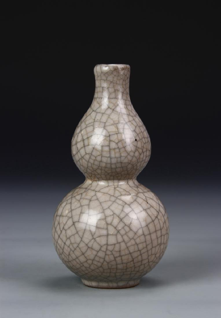 Chinese Ko Ware Double-Gourd Vase