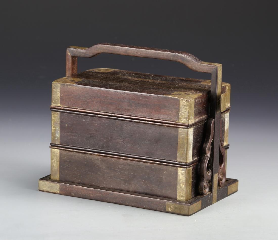 Chinese Zitan Stacking Boxes