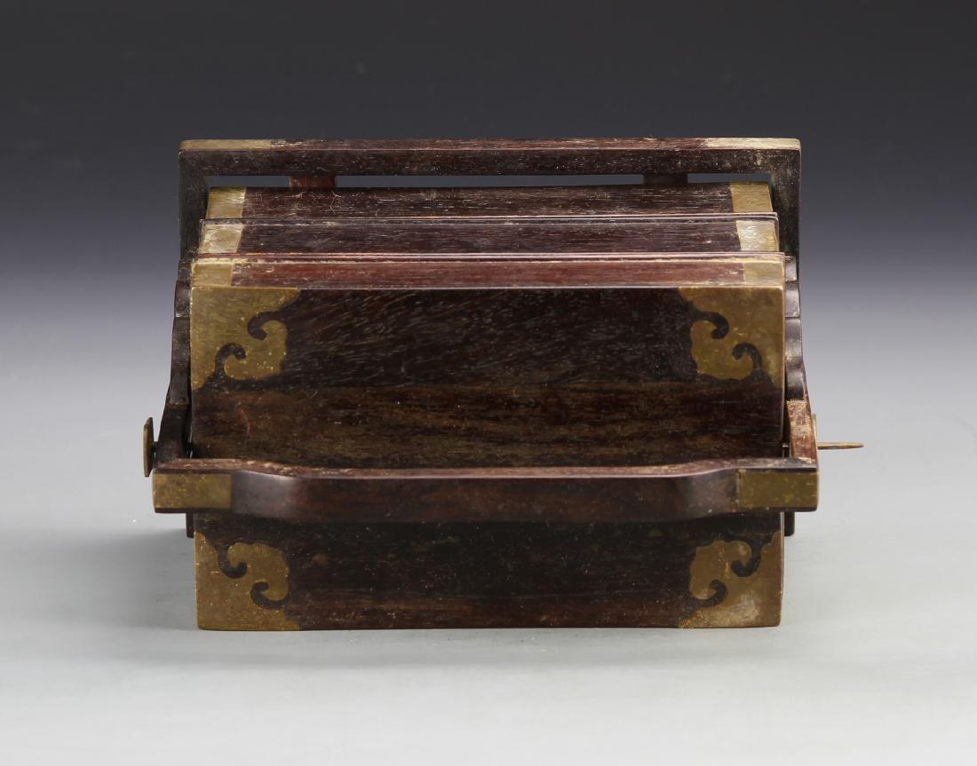 Chinese Zitan Stacking Boxes - 4