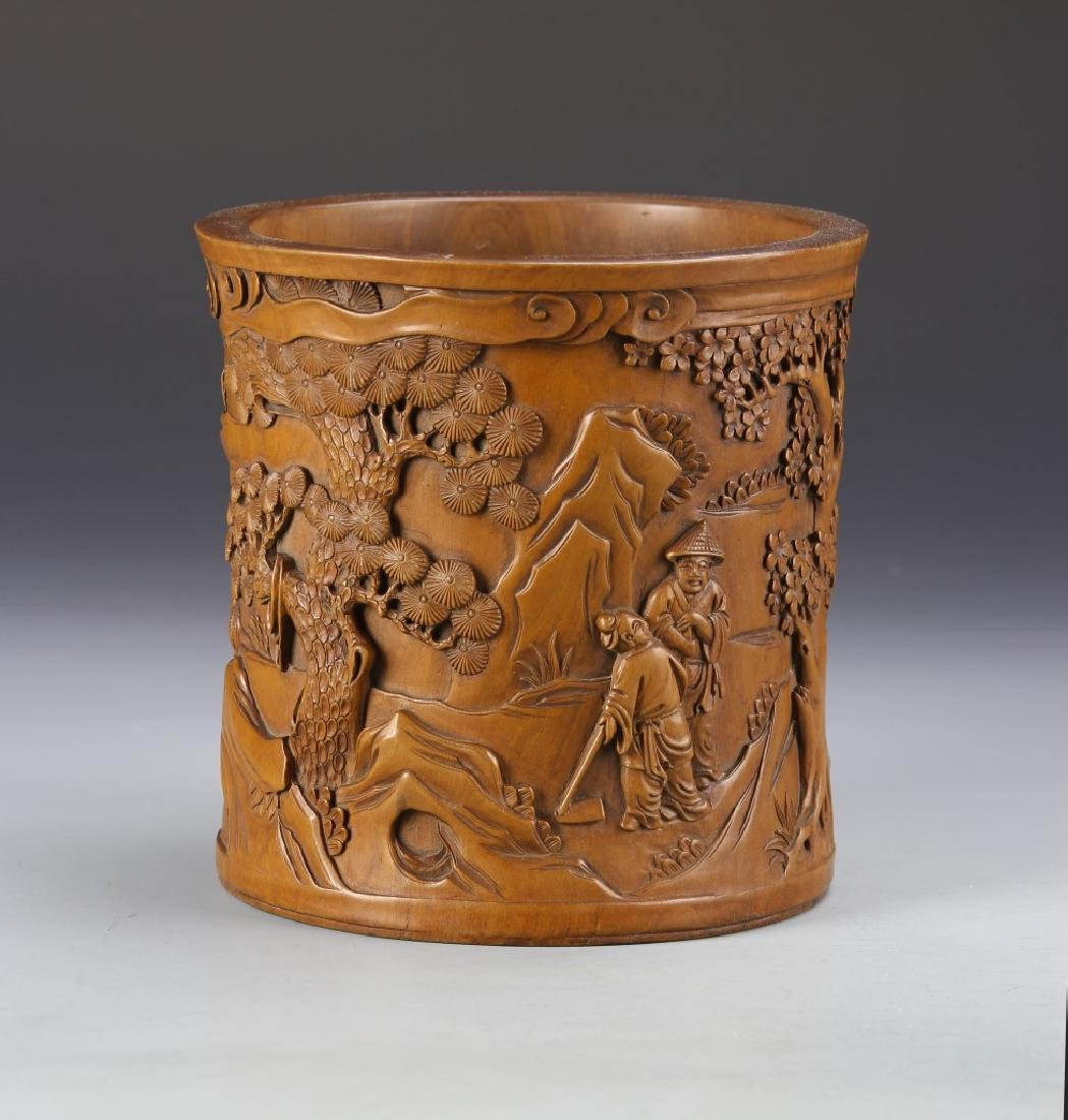 Chinese Boxwood Brush Pot