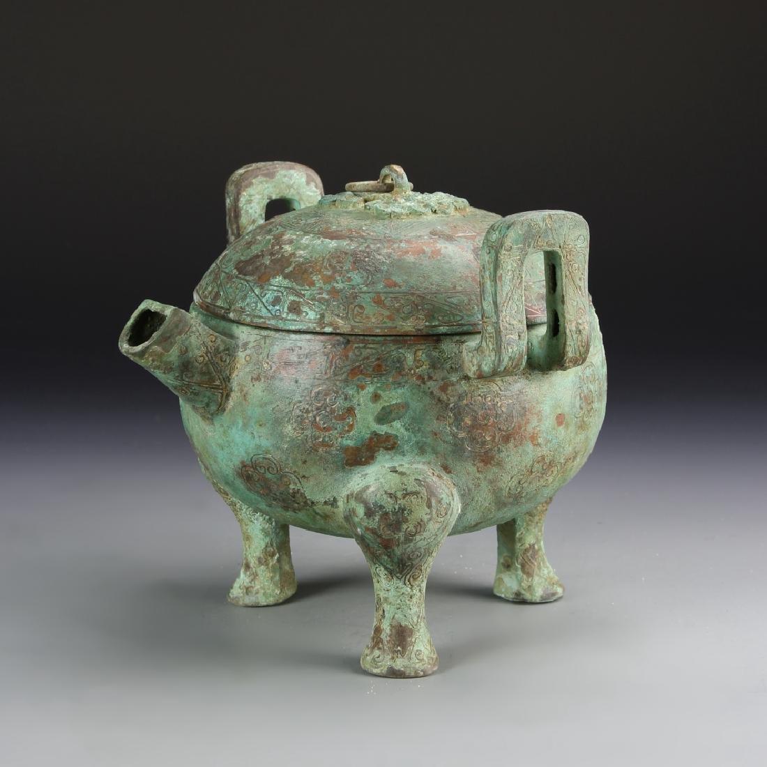 Chinese Bronze Tripod Vessel