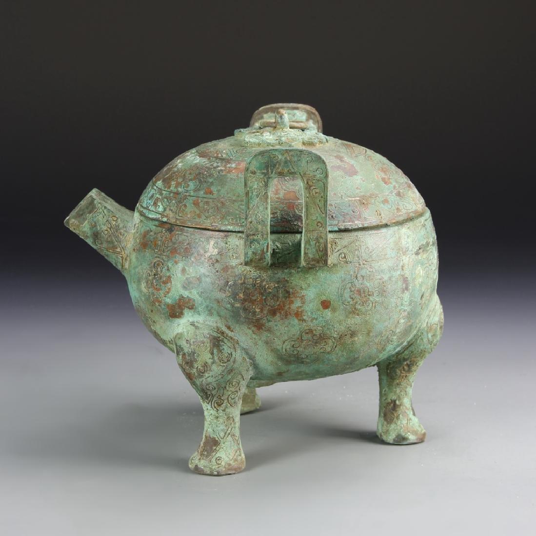 Chinese Bronze Tripod Vessel - 3