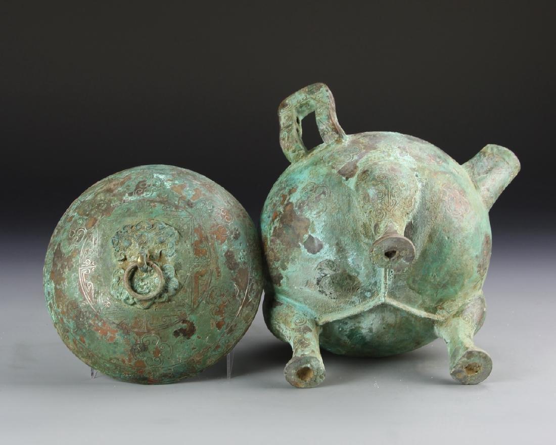 Chinese Bronze Tripod Vessel - 5