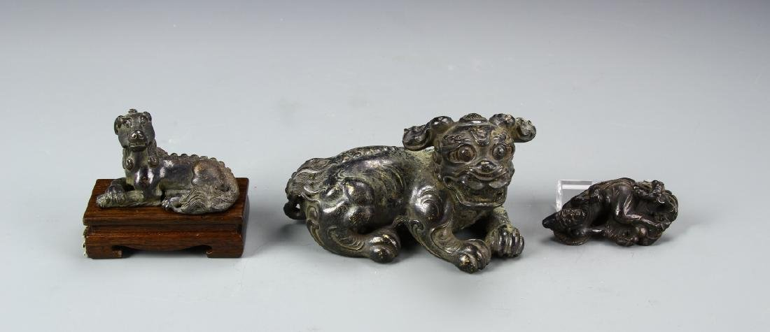 Three Chinese Bronze Figures