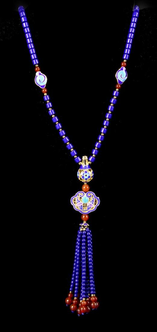 Chinese Lapis Necklace