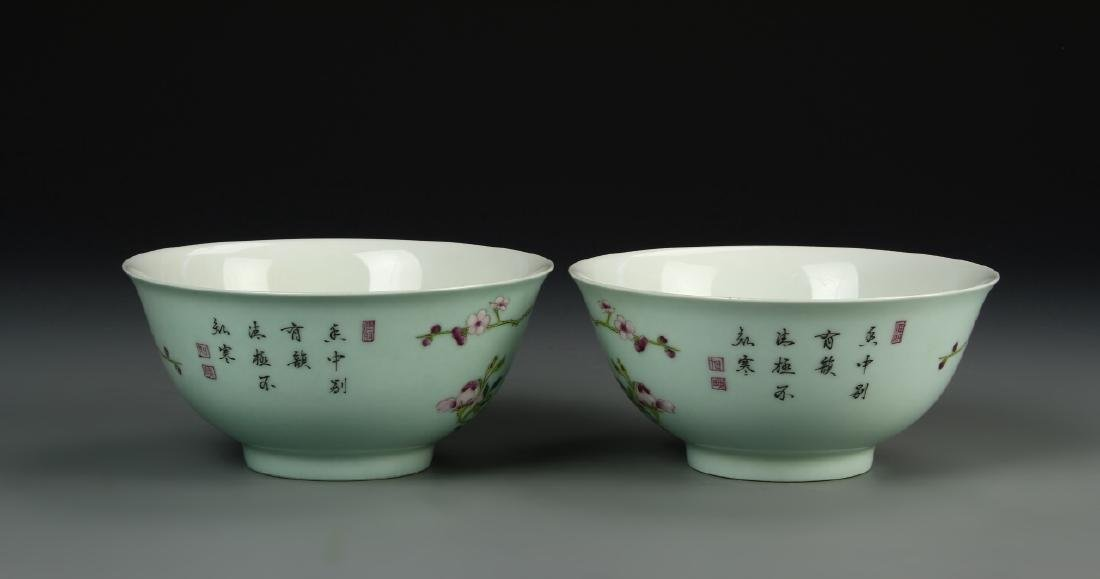 Pair Of Chinese Famille Rose Bowls - 2