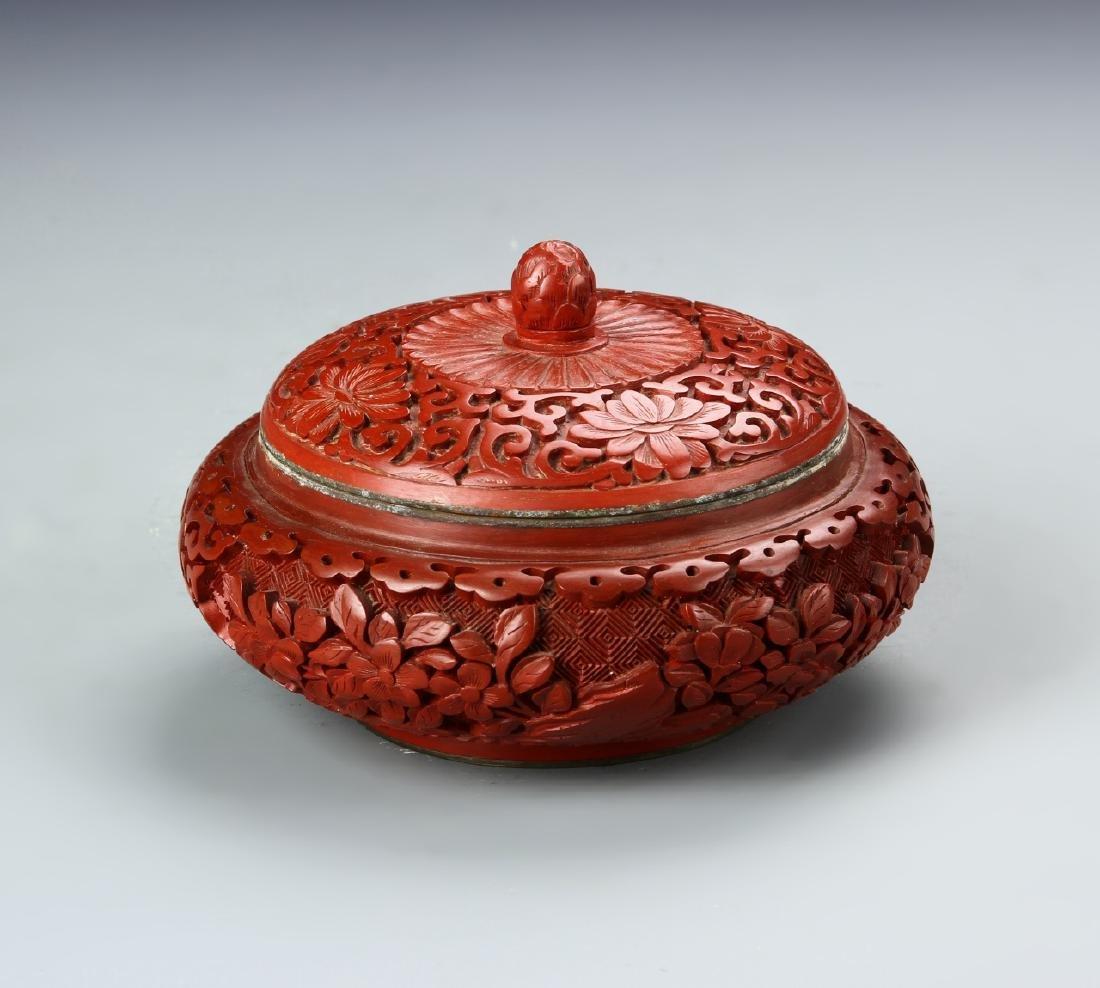 Chinese Cinnabar Jar