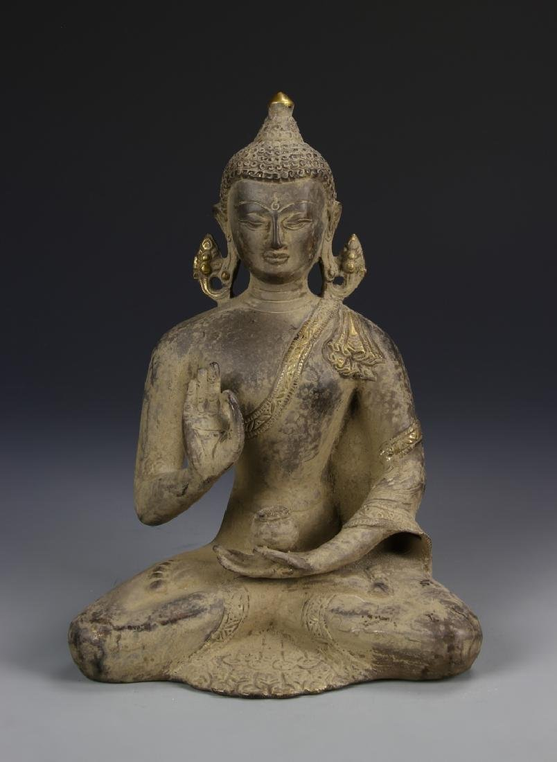 Indian Bronze Buddha