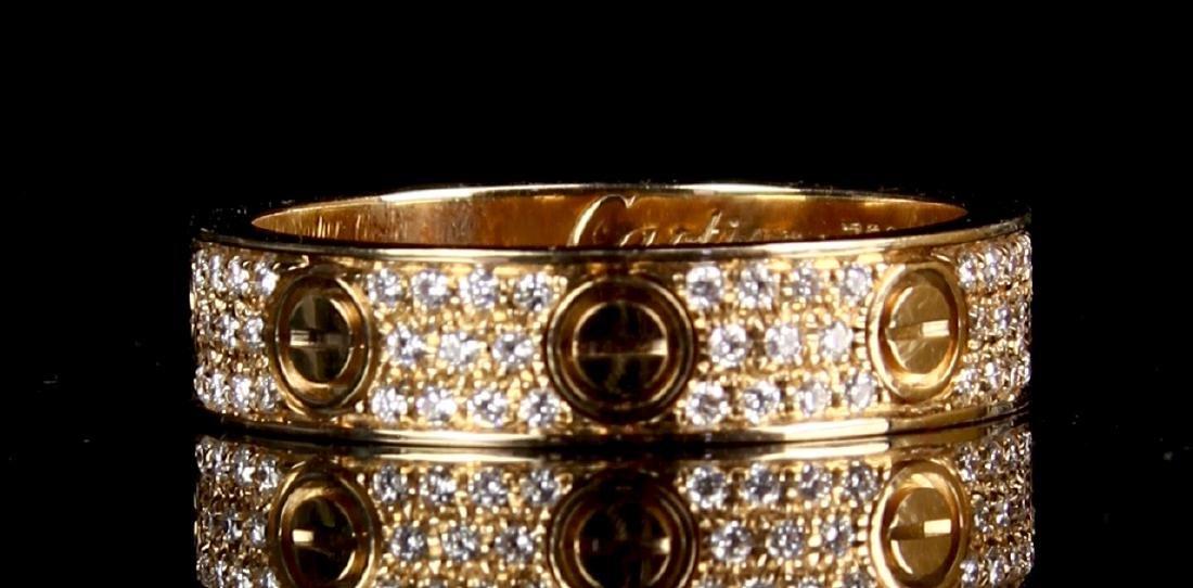 Cartier Gold Diamond Ring