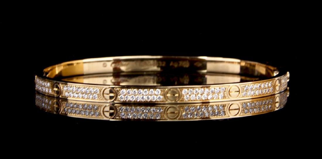 Cartier Gold and Diamond Bracelet with Key