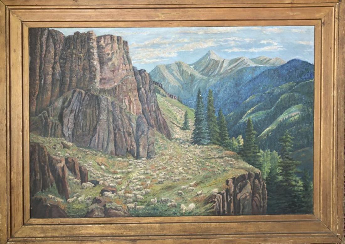 Large Vintage Landscape Oil Painting