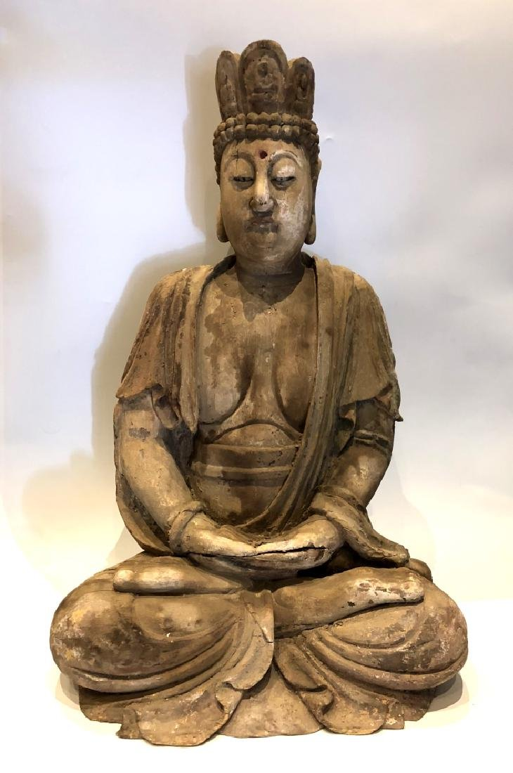 Chinese Wood Buddha