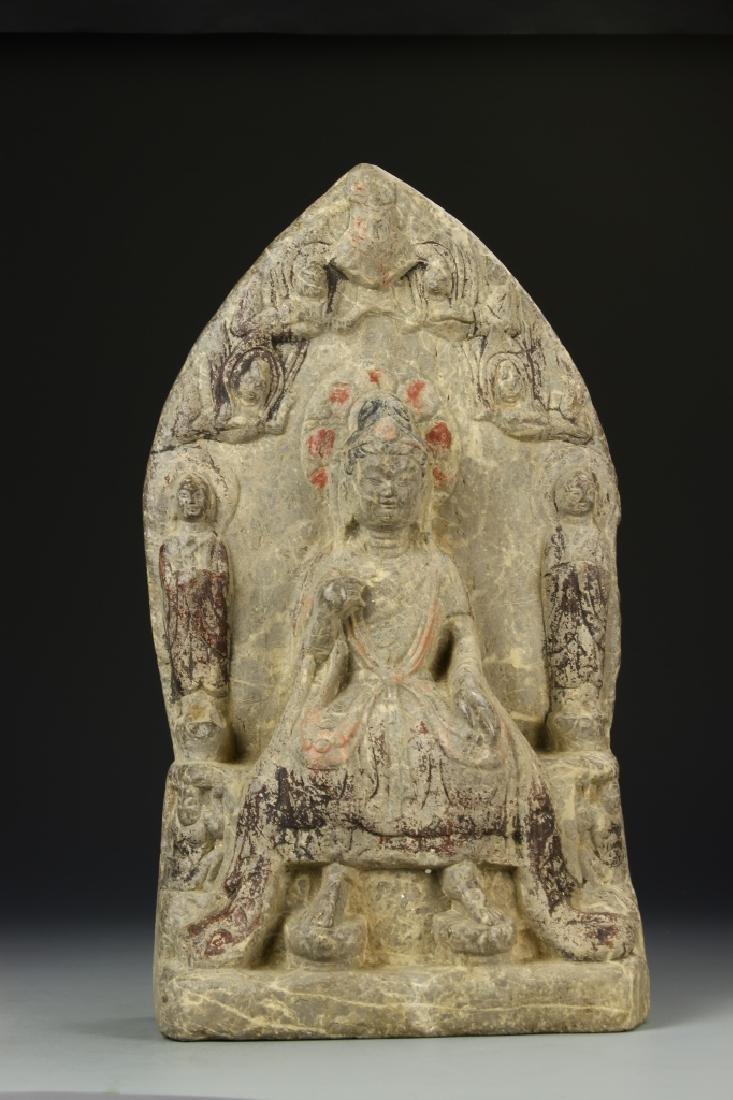 Chinese Lime Stone Buddha
