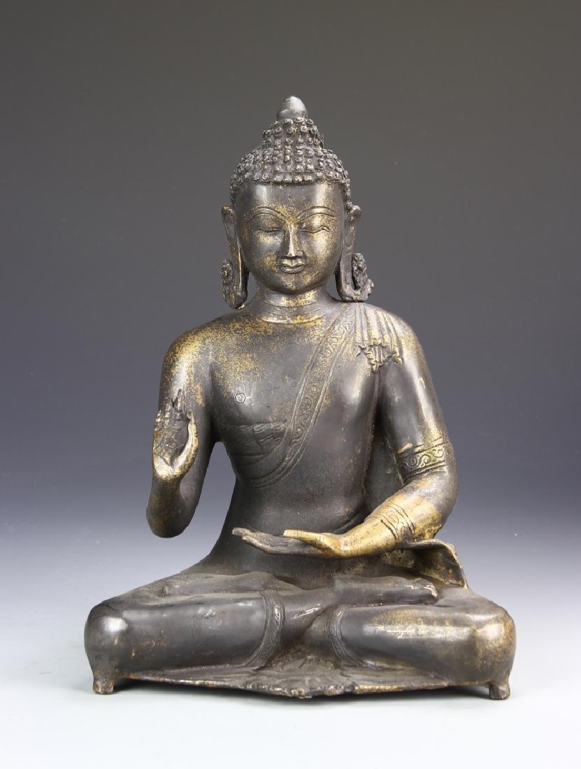 Indian Large Bronze Buddha