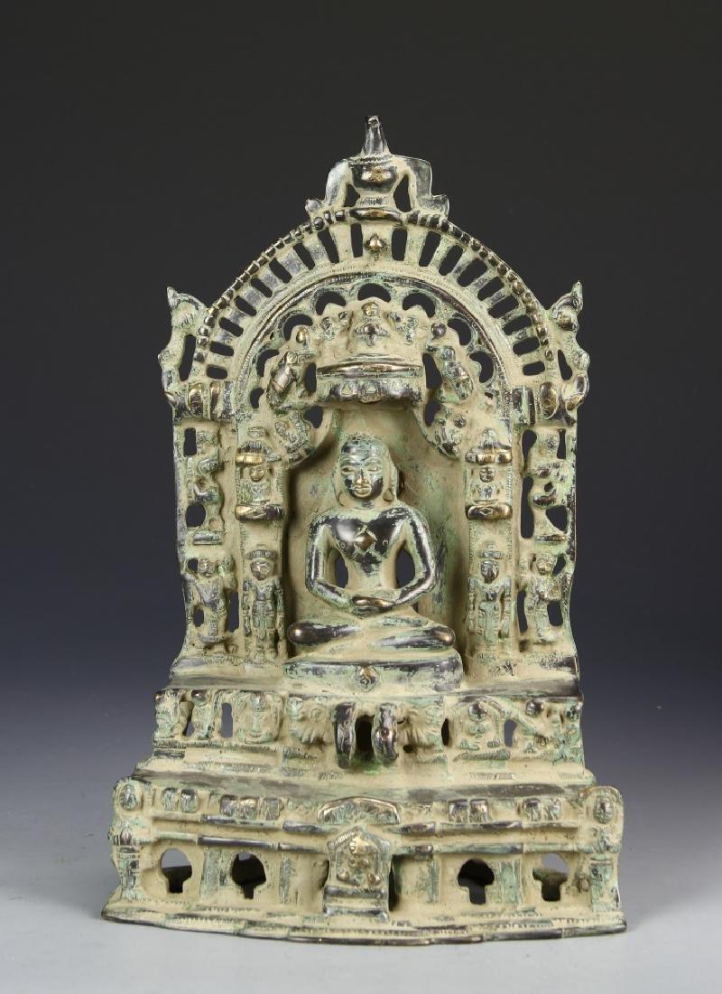 Indian Large Jain Bronze Alter