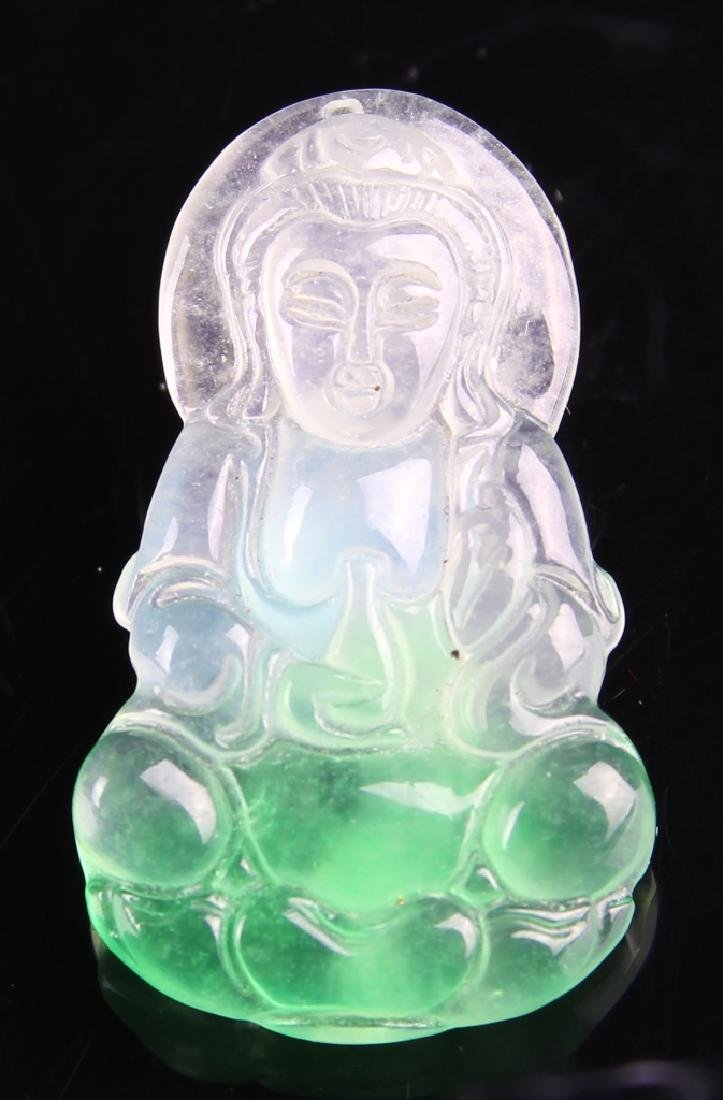 Chinese Jadeite Guanyin Pendant