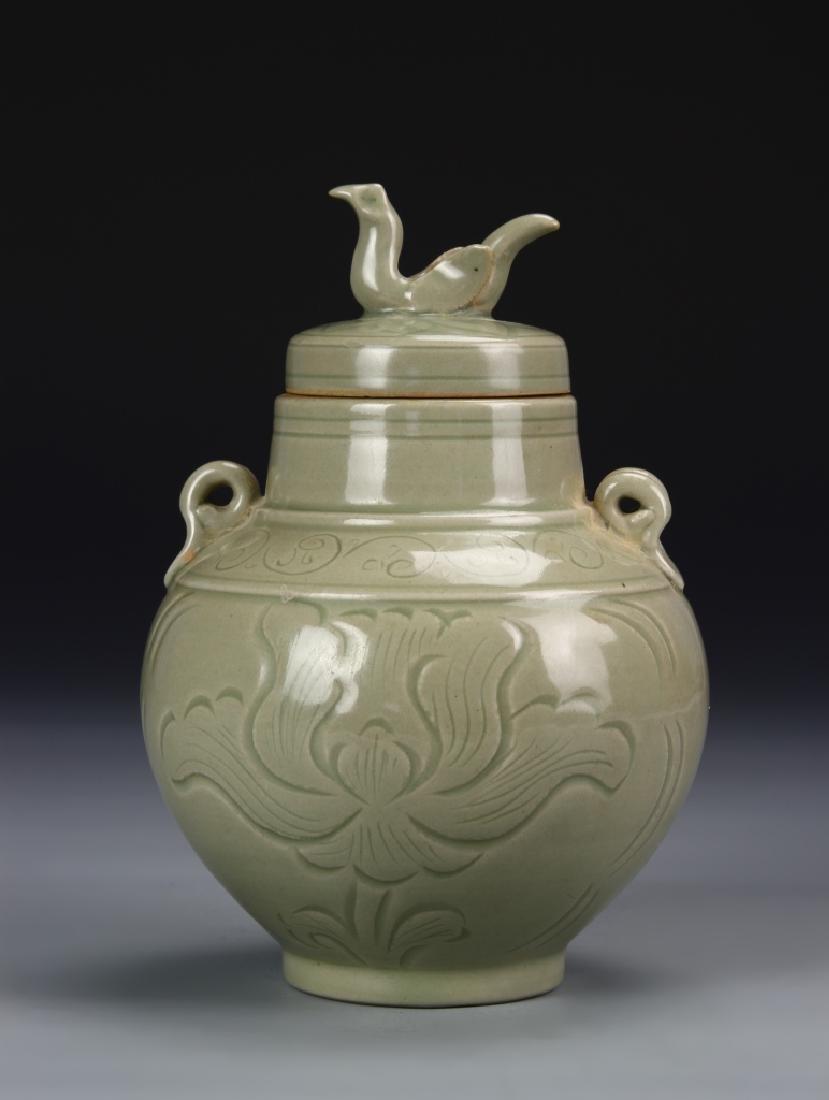 Chinese Lung Quan Yao Jar
